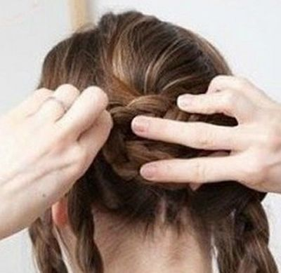 冬季盘长发包包头详细步骤_发型师姐