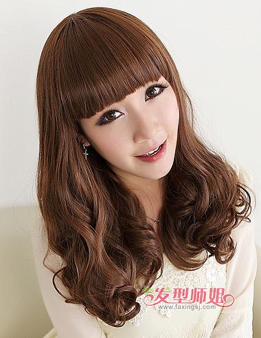 头发多可以剪梨花头吗 长头发梨花头卷发图片 发型师姐