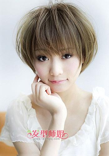2015女圆脸短发发型 圆脸短发得女孩适合的发型
