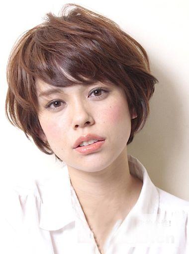方脸型适合烫什么发型 方脸短发烫发发型图片