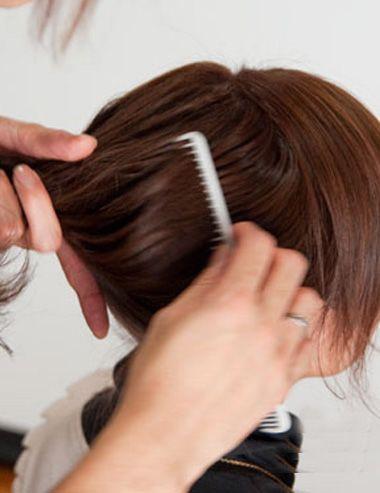 职场中年女士盘发 职场女性怎样盘发(3)图片