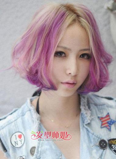 挑染绚丽的紫罗兰色图片