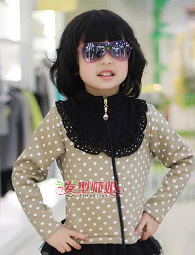 兒童短發發型圖片 小女孩發型設計方法(3)