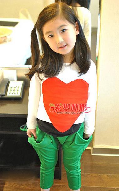 小孩韩式发型扎法步骤