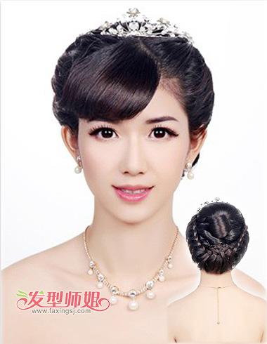 韩式编发新娘发型步骤