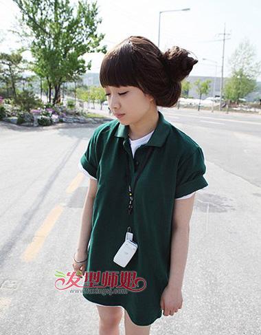 恩典的韩式花苞头发型 非主流头像花苞头造型(3)