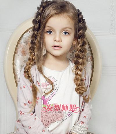 小女孩梳可爱发型 小女生时尚可爱发型(2)