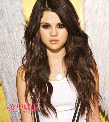 女士长发纹理烫发型图 时尚沙宣纹理烫发型(3)图片