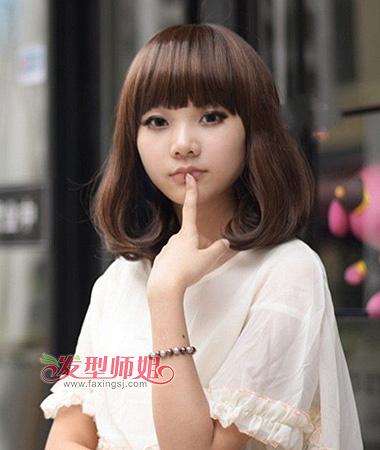 中学生齐刘海内扣梨花头-有什么好看的梨花头图片 女中学生适合什么