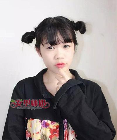 圆脸中长发发型 圆脸女生适合的发型(4)