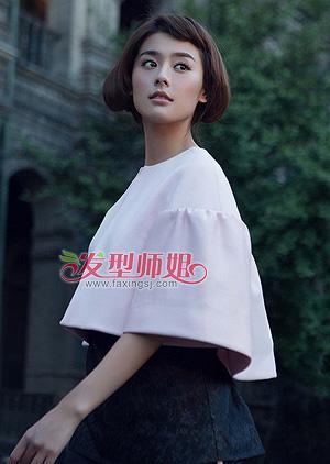 斜刘海内扣短发梨花头-中短发梨花头 中短发梨花头图片 发型师姐