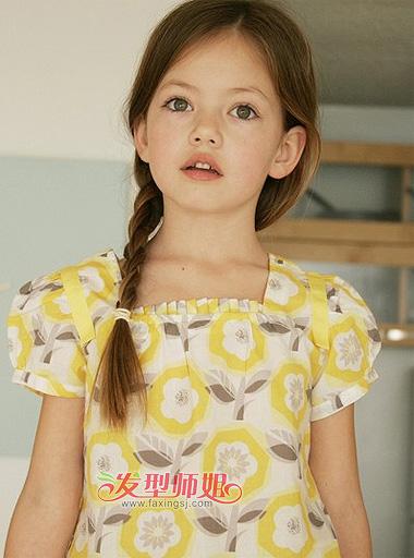 简单儿童发型设计 适合13岁女童的发型图片