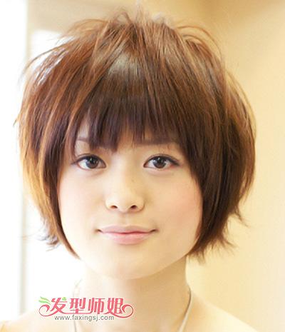 女生国字脸头发怎么留 国字脸女生适合的短发发型(2)图片