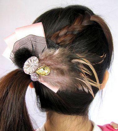 发型设计 儿童发型 >> 小孩编头发的发型步骤及图片 编头发的花样发型图片