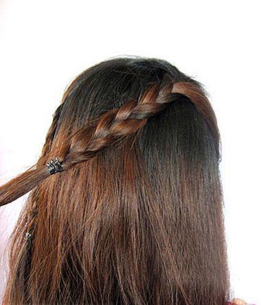 小孩编头发的发型步骤及图片 编头发的花样发型(4)