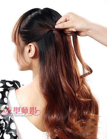 长头发简单扎法图解_扎长头发简单好看的步骤 淑女风长发教程一_发型师姐