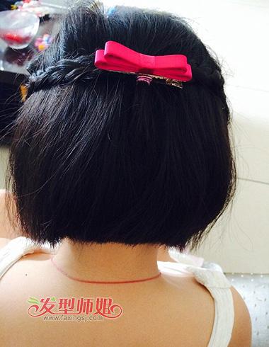 少女编头发发型大全 一些头发比较短的编头发型