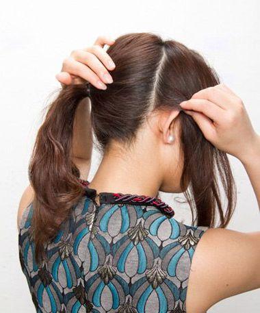 不仅仅是花季中长发的女生,长发的女孩子也会有想要梳包包头的一天图片