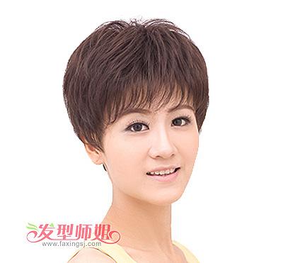 中年圆脸女士短发发型图片图片