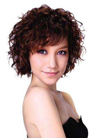 满头小卷发型图片 女生小卷发型