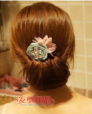 韩式包包头扎法步骤 简单盘发包包头图解图片