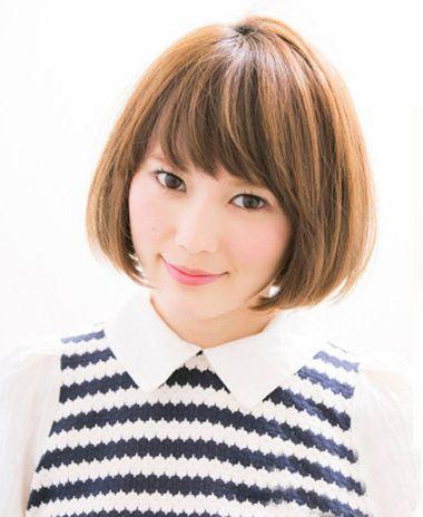 圆脸波波头发型图片 适合圆脸的波波头直发发型 发型师姐图片
