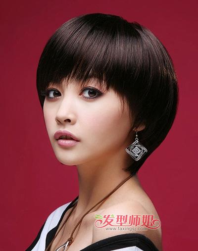 女大圆脸适合的短发_适合大圆脸的中短发型 大圆脸适合什么中短发型(2)_发型师姐