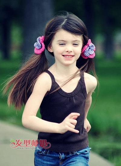 兒童發型綁扎圖片女孩