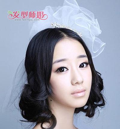 大圆脸短发烫发 大圆脸学生适合的发型(2)