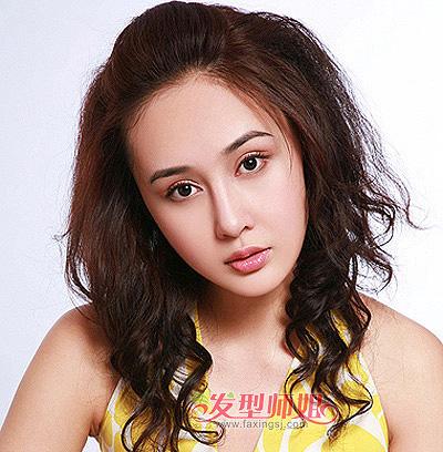 大圆脸短发烫发 大圆脸学生适合的发型(4)