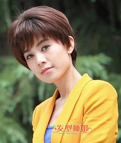 圆脸职业装发型 圆脸发型短头发图片(3)图片