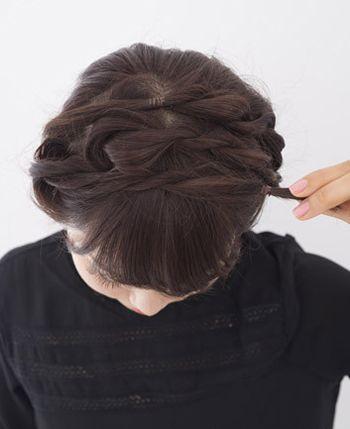 直发如何扎丸子头 中长发丸子头的扎法图解(3)图片