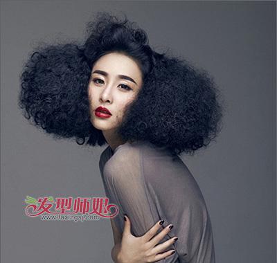 满头小卷发型图片 女生小卷发型 发型师姐