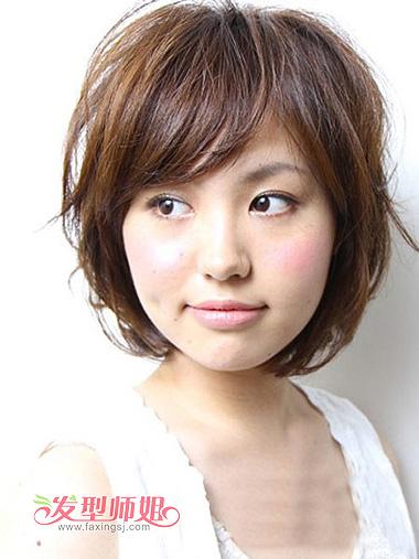 大圆脸斜刘海修颜短发-适合大圆脸的短发图片 大圆脸留短发的图片 发