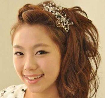 梨花头怎样扎头发好看 中长梨花头扎发发型图片(2)