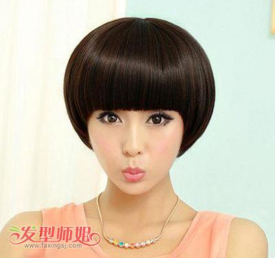 2015年圆脸适合的中短发发型图片女款 短发发型图片女图片