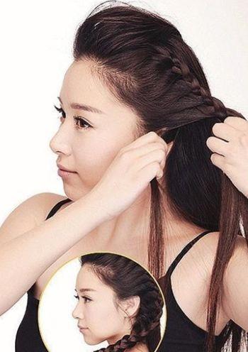 编头发简单发型图解