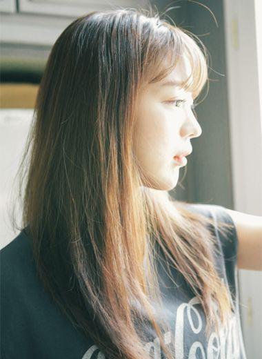 中长直发刘海发型 直发刘海发型图片集(2)