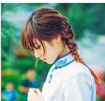 女生时尚编头发发型 美丽简单的编头发发型