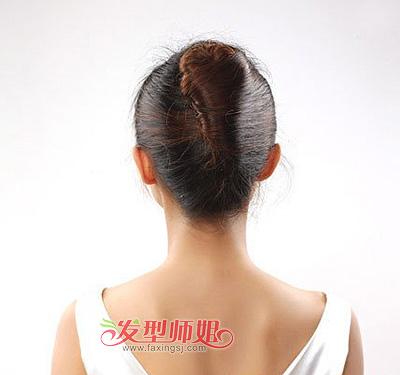 职场盘发发型步骤 盘头发型步骤图片职场女性(5)