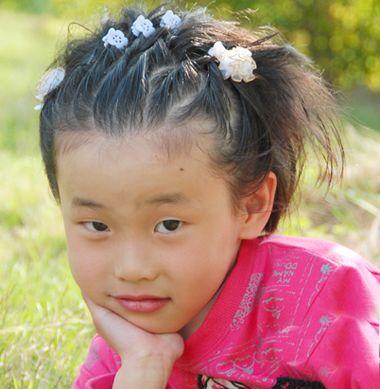儿童怎么样编头发好看 小姑娘短发怎么编头发(2)图片