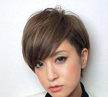 三七分斜刘海短发发型-女生斜刘海直发发型 三七分斜刘海直发发型 发