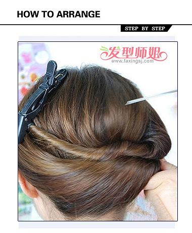 长头发女生怎么盘发 好看的盘发图解(2)