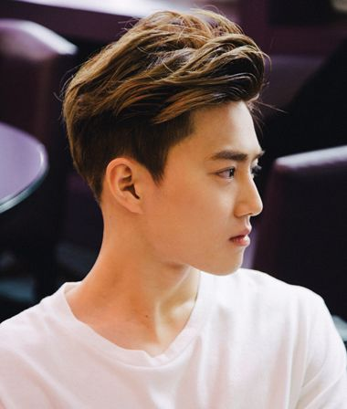 男生斜刘海烫发发型 男生斜刘海发型图片图片