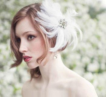 时尚短发新娘发型 2016年短发新娘发型图片图片