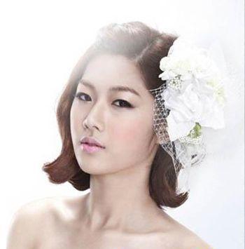 时尚短发新娘发型 2016年短发新娘发型图片 发型师姐图片
