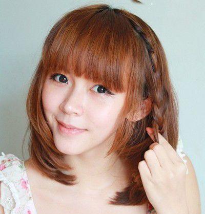 短发编头发的方法图解 最简单的编发发型图片图片