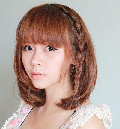 短发编头发的方法图解 最简单的编发发型图片(3)图片