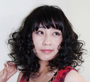 女士中年中短发小卷发型图片 日韩小卷发型 发型师姐