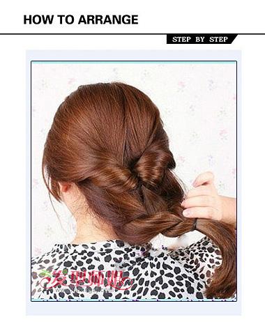 直发简单盘头发发型步骤 长发盘头发发型图片